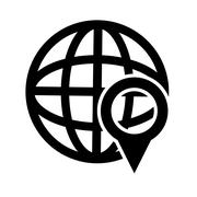 Earth globe diagram and gps map pointer icon Stock Illustration