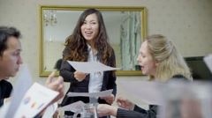 Successful team of professionals of mixed ages and ethnicity Stock Footage