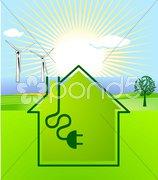 Sonnen-Wind-Energie Kuvituskuvat