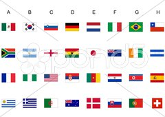 World cup flags Stock Photos