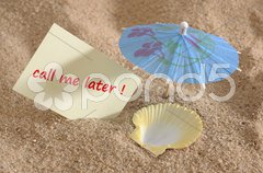 Urlaub Ferien am Strand Stock Photos