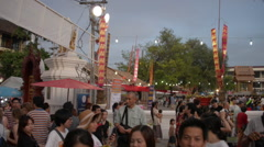 Chiang Mai, Thailand Intakin Festival Stock Footage
