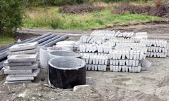 Building materials of concrete Stock Photos