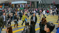 Common pedestrian crossing. Hong Kong Stock Footage