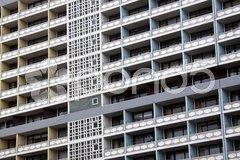Hochhausfassade Stock Photos