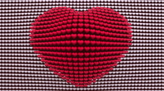 Heart shape made of little hearts. Stock Footage