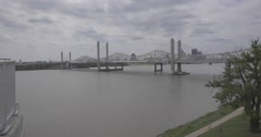 Ohio River Louisville, Ky Canon 1DC Stock Footage