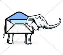 Elefanten-Post Stock Photos