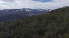 Revealing Giant Snowy Mountain Peaks Stock Footage