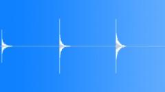 Foley Various Hit Series x 3 Plastic Tube Dry Knocks Slight Bounces Sound Effect