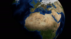Rotating planet Earth in a dark universe, FullHD. Stock Footage