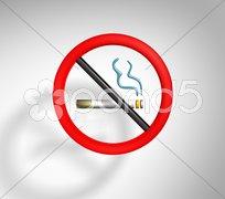 Not smoking sign Stock Photos