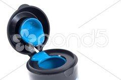 Blue color little paint Stock Photos