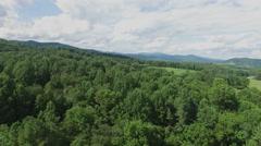 Shenandoah Valley Virginia Aerial Footage - Medium Altitude Fly-by Stock Footage