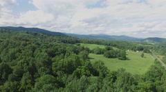 Shenandoah Valley Virginia Aerial Footage - Medium to Low Altitude Stock Footage