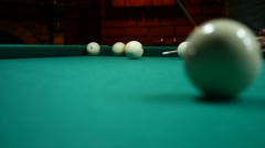 Sport game green the billiards background video game gambling Stock Footage