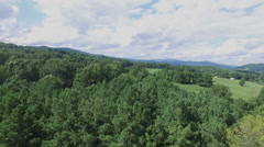 Shenandoah Valley Virginia Aerial Footage - Lift Up Stock Footage