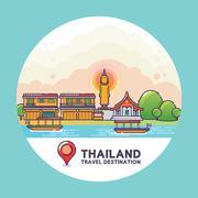 Thailand Travel Destination Concept Stock Illustration