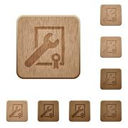 Award winning support wooden buttons Stock Illustration