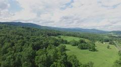 Shenandoah Valley Virginia Aerial Footage - Pull Back Stock Footage