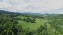 Shenandoah Valley Virginia Aerial Footage - Fly Over Stock Footage