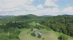 Shenandoah Valley Virginia Single Family House Aerial Footage Stock Footage