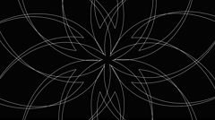 Abstract Radiating Spirograph Pattern Background Loop Stock Footage