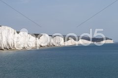 The Seven Sisters Cliffs near Eastbourne. East Sussex. England Stock Photos