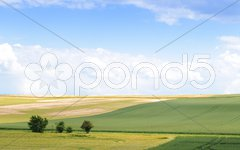 Landschaft mit Feldern Stock Photos