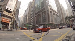Crossroads at the usual street. Hong Kong Stock Footage