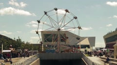 Museum of Liverpool And Ferris Wheel Stock Footage