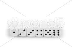Black and white dice Stock Photos