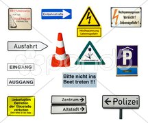 German signs Stock Photos