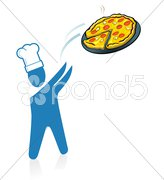 Pizza Schnell-Service Stock Photos