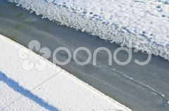 Cracking ice Stock Photos