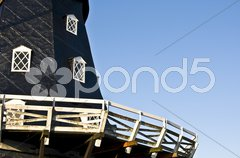 Windmill and Turning Torso Stock Photos