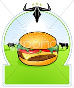 Bio-Hamburger Stock Photos