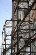 Erhaltung alter Fassade Stock Photos