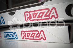 Pizza cardboard Stock Photos