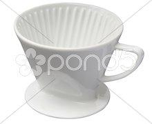 Porzellan Kaffeefilter Stock Photos