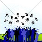 College Abschlussfeier Stock Photos