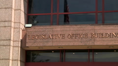 Legislative Office sign Stock Footage