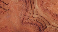 Looking Straight Down High Over Canyon Floor Stock Footage
