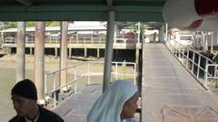 Bangkok, Thailand Ferry Ride Stock Footage