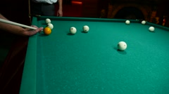 Sport game video green the billiards background game gambling Stock Footage