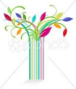 Streifen-Blumen Stock Photos