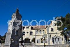 Palace of the Condes de Castro Guimaraes Stock Photos