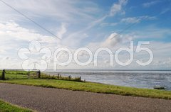 Sky view on a northen sea in Netherlands Stock Photos