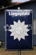 Wasserschutzpolizei-Liegeplatz (Schild) Stock Photos