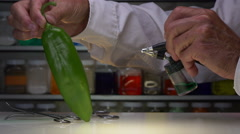 HATCH GREEN CHILI GETS ENHANCED IN THE LAB. Stock Footage